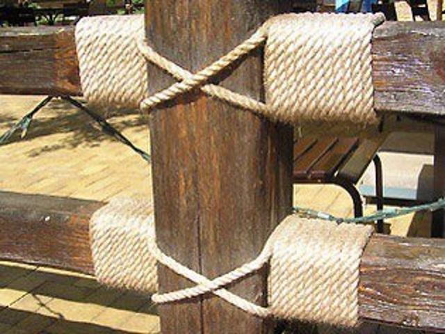 декоративный канат перила